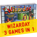Wizarday game and book